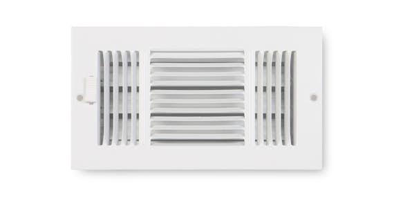 3-Way Air Flow Sidewall/Ceiling Registers