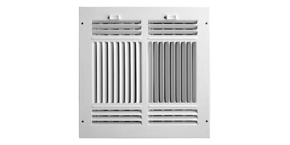 4-Way Air Flow Sidewall/Ceiling Registers