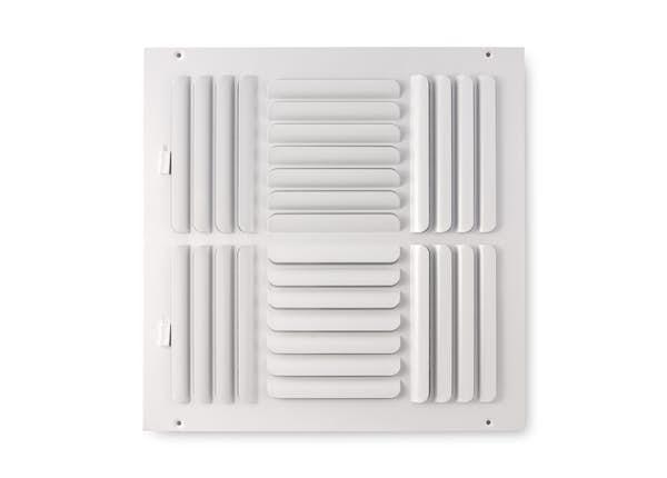 264 Series Curved Blade 4-Way Sidewall/Ceiling Register
