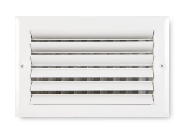 282 Series Aluminum Curved Blade 2-Way Sidewall/Ceiling Register