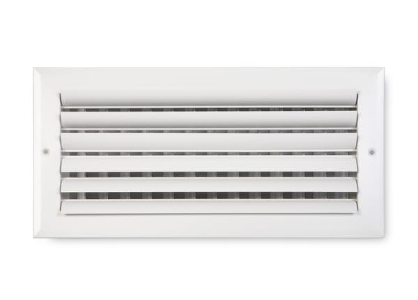 282 Series Aluminum Curved Blade 2-Way Sidewall/Ceiling Register