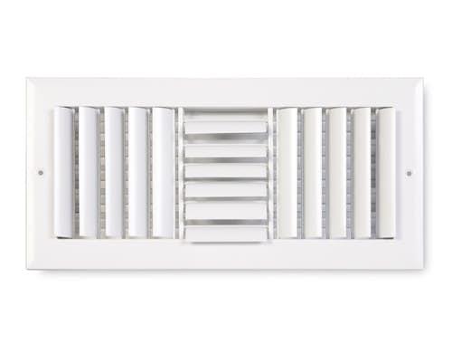 283 Series Aluminum Curved Blade 3-Way Sidewall/Ceiling Register
