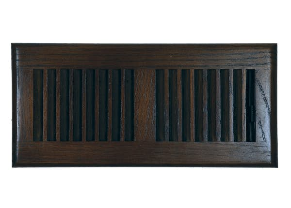 Oak Louvered Floor Register