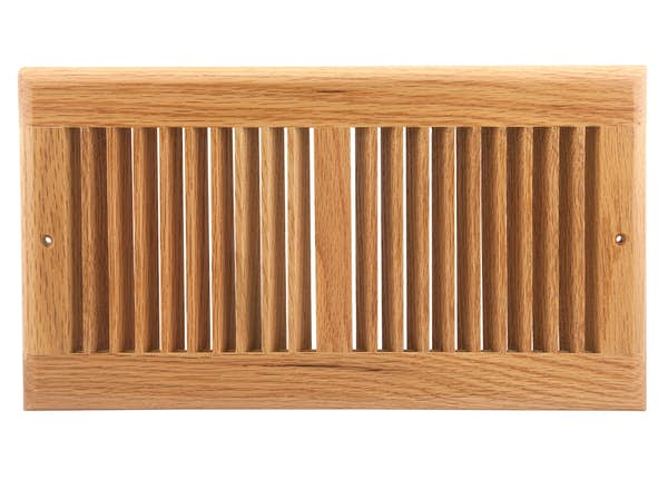 Oak Sidewall Ceiling Register