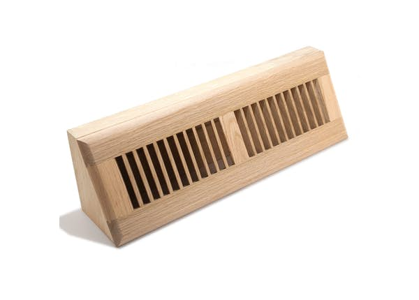 Oak Louvered Baseboard Diffuser
